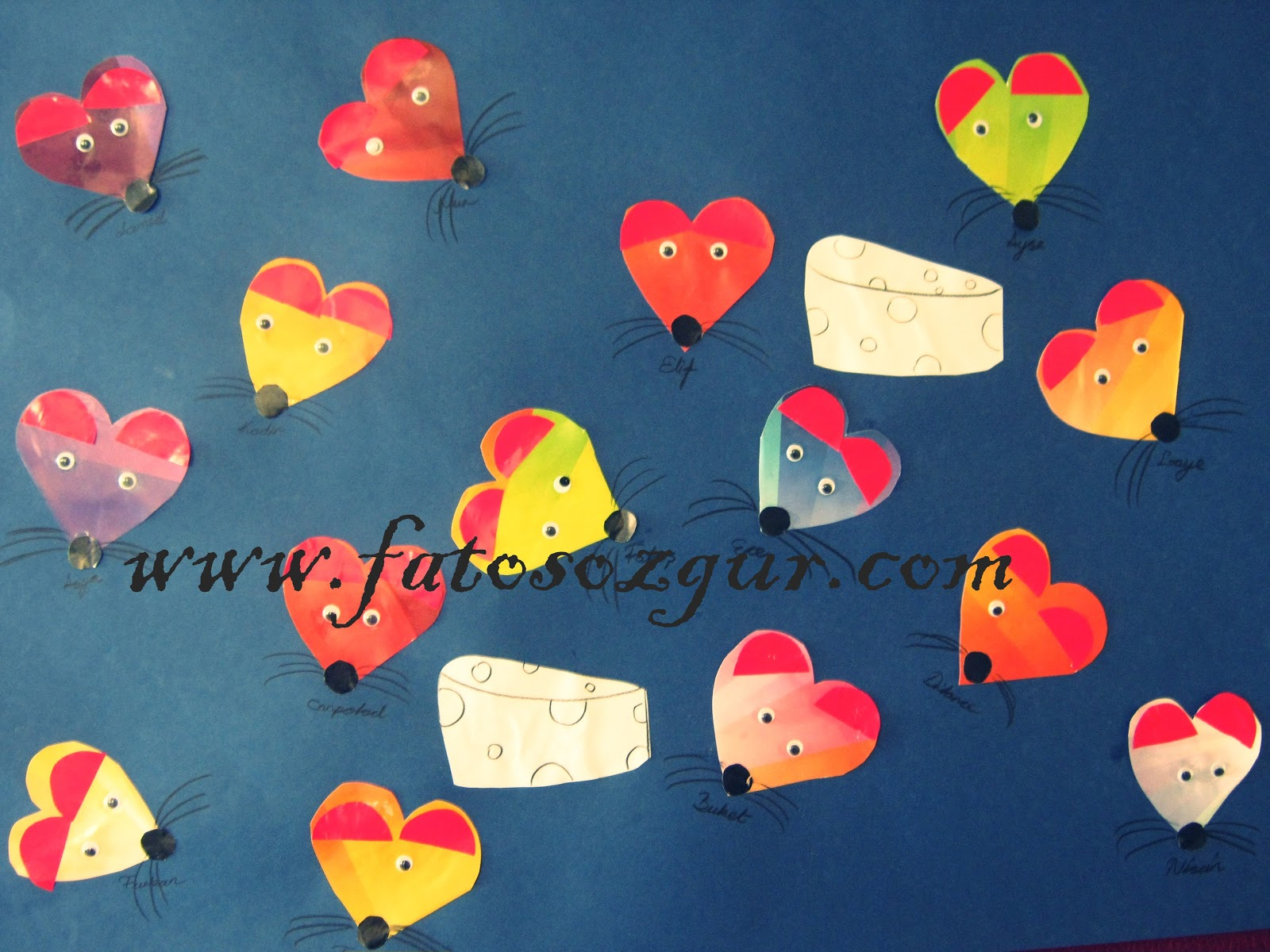 heart mouse craft