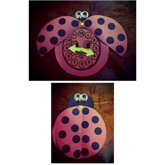 ladybug clock craft