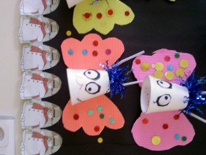 paper cup butterfly craft