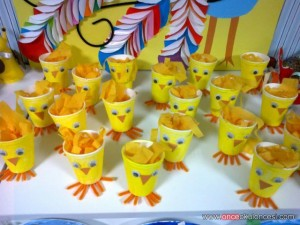 paper cup chick craft idea