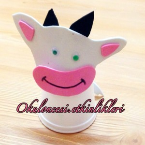 paper cup cow craft (2)