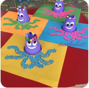 paper cup octopus paper cup animal craft idea for crafts and 2622