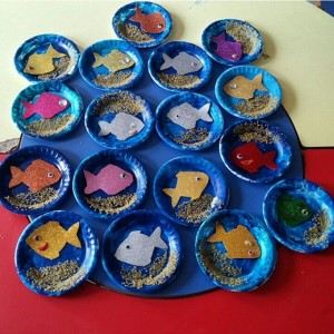 paper plate aquarium craft (2)