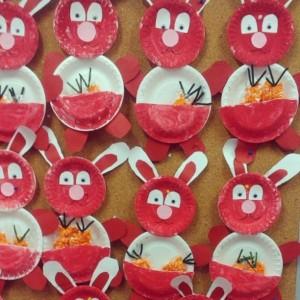 paper plate bunny craft idea