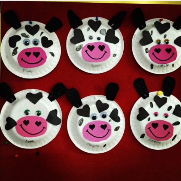 paper plate cow craft idea for kids