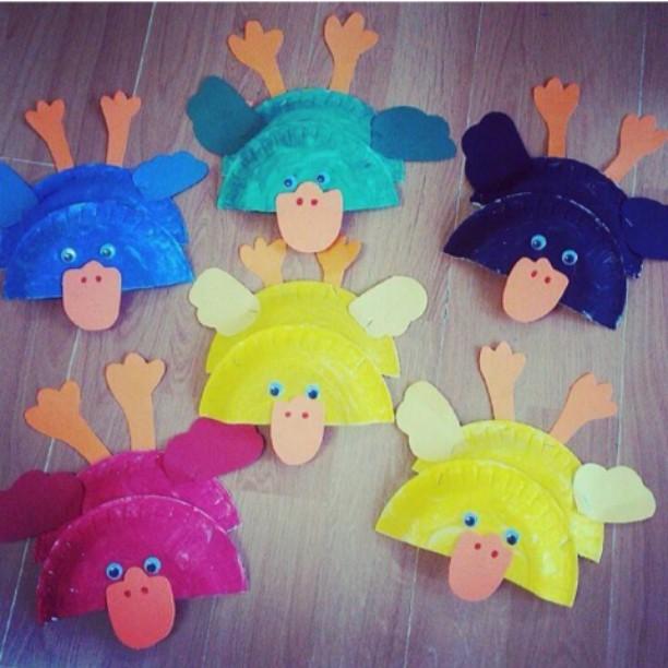 paper plate duck craft