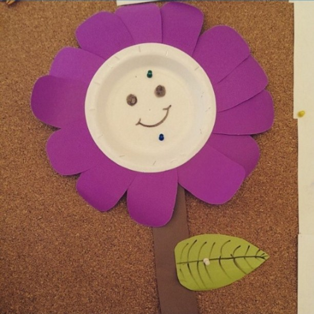 paper plate flower craft (1)