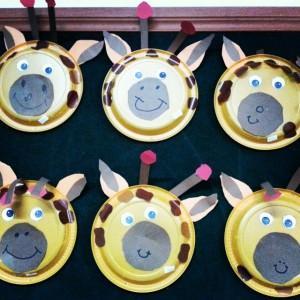 paper plate giraffe crafts