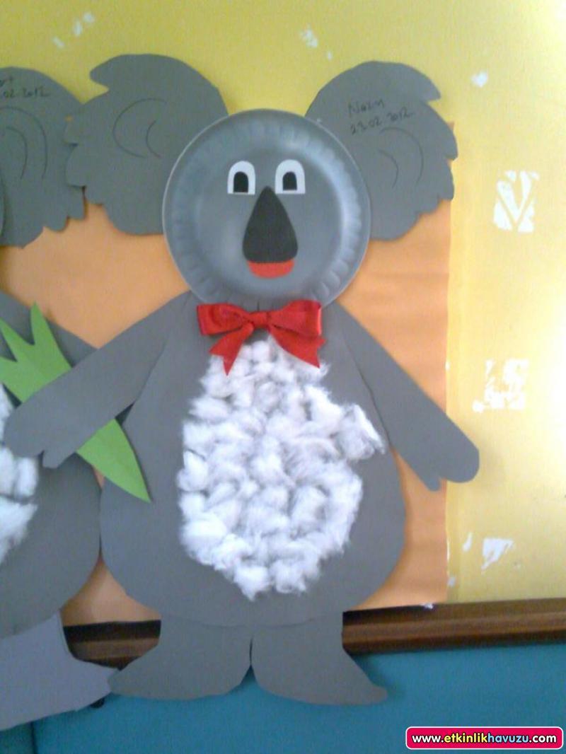 paper plate koala craft