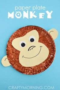 paper plate monkey craft idea