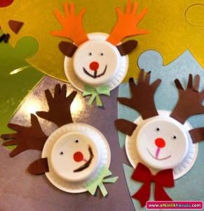 paper plate reeindeer craft