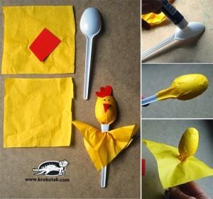 spoon chickhen craft (2)