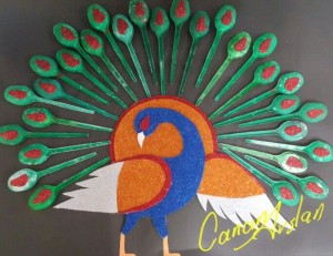 spoon peacock craft