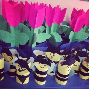 toilet paper roll bee craft (1)