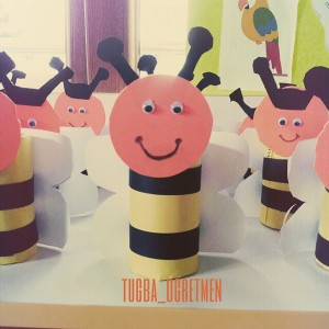 toilet paper roll bee craft idea