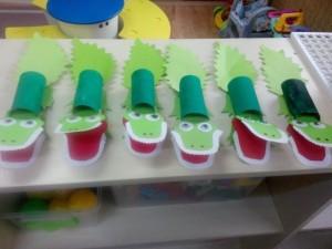 toilet paper roll crocodile craft