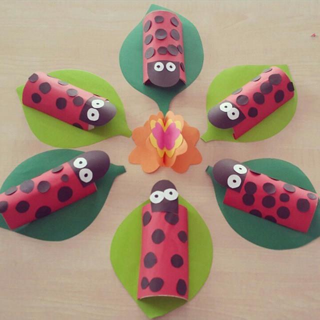 toilet paper roll ladybug craft (3)