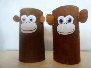 toilet paper roll monkey craft