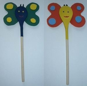 wooden spoon butterfly craft