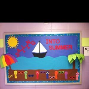 Sailing Into Summer Bulletin Board Idea