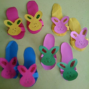 animal slippers craft for kids