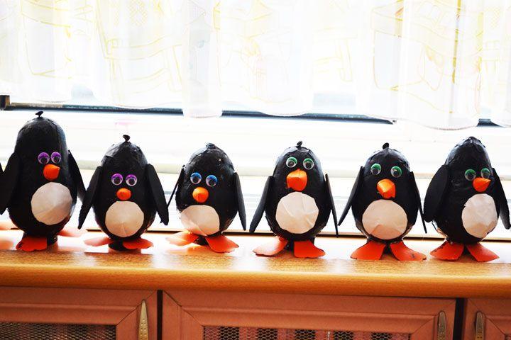 balloon penguin craft idea