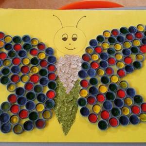 bottle cap butterfly craft