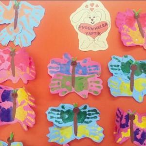 handprint butterfly craft idea for kids