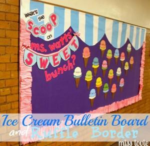 ice cream bulletin board