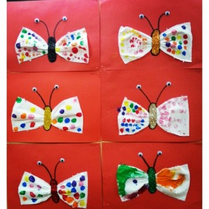 napkin butterfly craft (1)