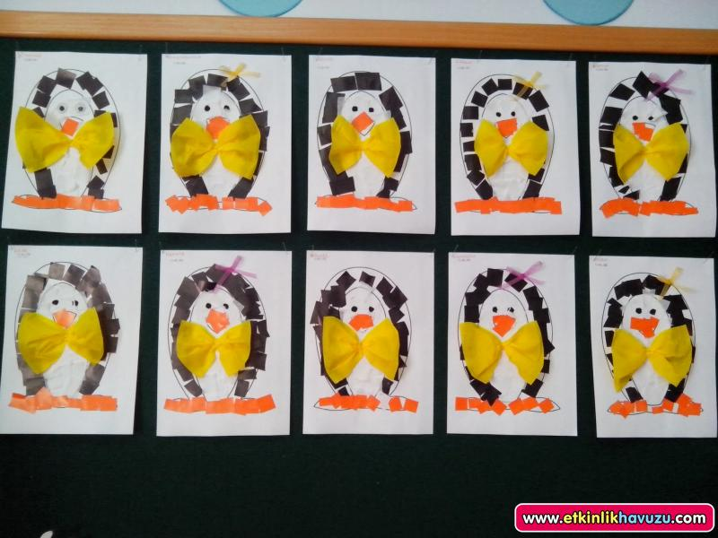 penguin craft with template (2)