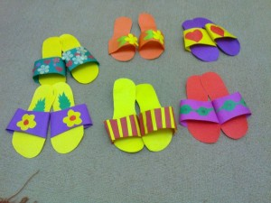 slippers craft idea for kids (1)