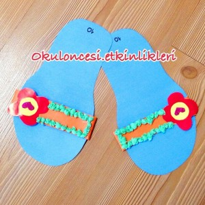 slippers craft idea for kids (11)