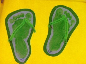 slippers craft idea for kids