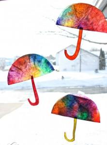 Coffee Filter Umbrellas