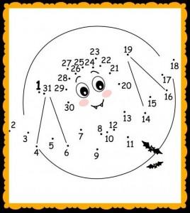 Dot-to-Dot PrintableHalloween Bat Worksheet for Kids