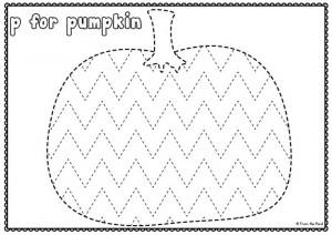 FREE Pumpkin Tracing Worksheet