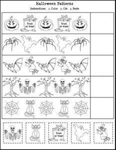 Free Printable Halloween Math Worksheet for Kids!
