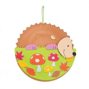 Paper Plate Hedgehog Craft idea