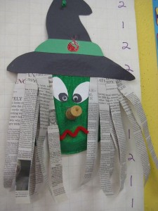 Paper plate witch craft for Kindergarten