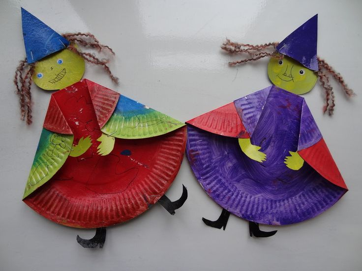 Witch paper plate craft
