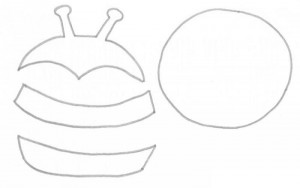 cd bee craft with template (2)