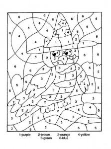 color by number owl worksheet