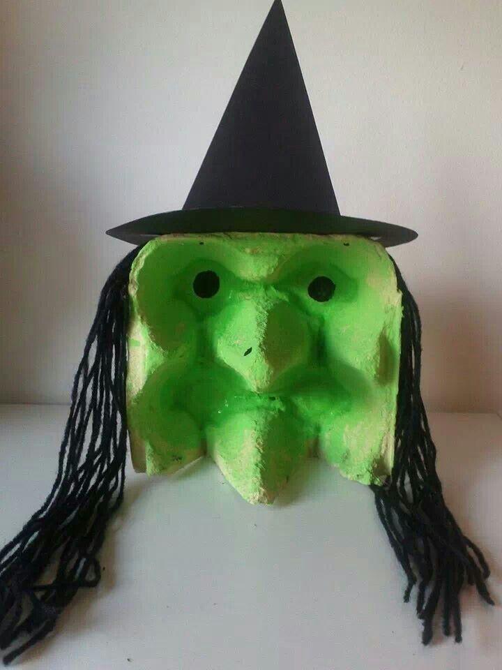 egg carton witch craft