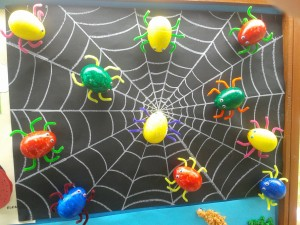 egg spider craft