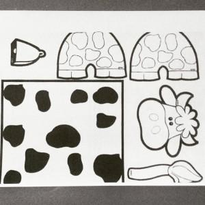 finger puppet cow craft (2)