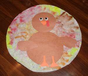 free coffee filter turkey craft