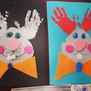 handprint bunny craft idea