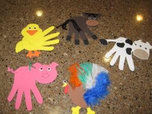 handprint farm animal craft