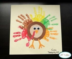 handprint turkey craft idea for kids